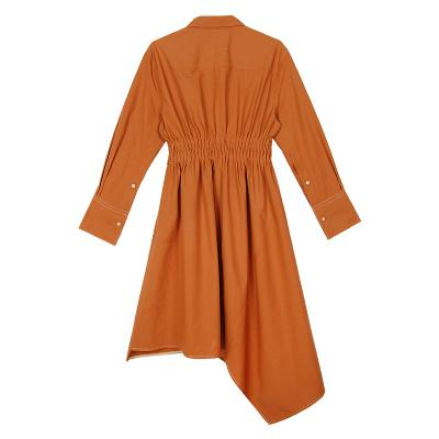 robe shirt dress brown